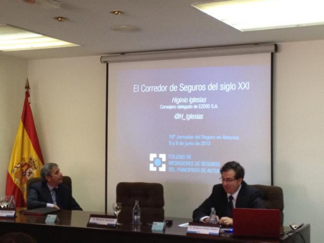 Higinio Iglesias en 18 Jornadas del Seguro en Asturias