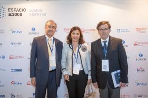 Con Florent Hillaure , Consejero Delegado de Plus Ultra, y Monica Pons, Presidente de E2000 Asociación