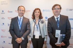 Con Fernando Losada, director general de distruibución de Plus Ultra, y Monica Pons, Presidente de E2000 Asociación