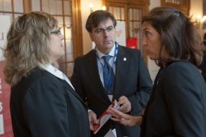 Con Paloma Arenas, Gerente de E2000 Asociación y Monica Pons, Presidente de E2000 Asociacion — en Santander